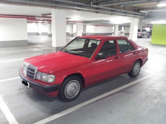 190 D, Signalrot, 1991, 55 kW