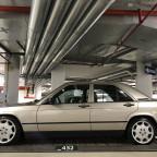 Mein 87´er Baby Benz 2.3E auf 8x16 ET34  8 Loch
